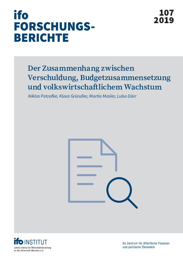 Der Zusammenhang Zwischen Verschuldung Budgetzusammensetzung Und Volkswirtschaflichem Wachstum Veröffentlichung Ifo Institut